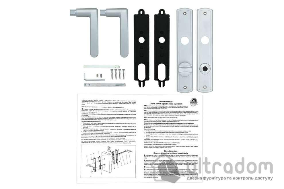 Дверная ручка ROSTEX KREDO  WC ручка-ручка 72 мм хром матовый