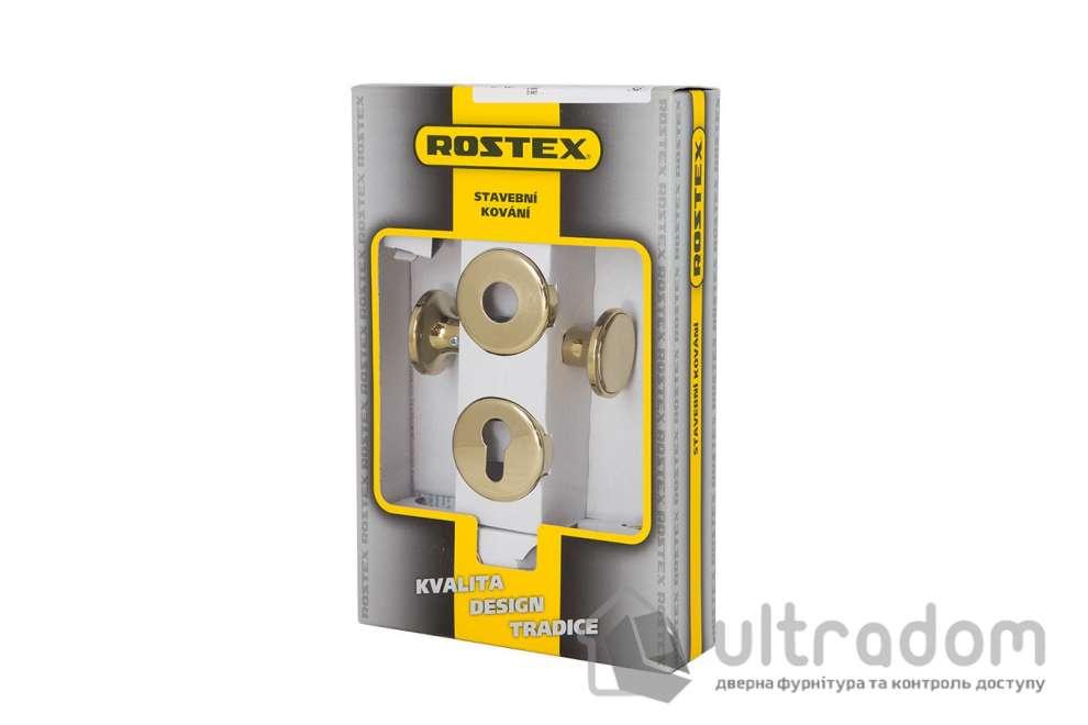 Ручка-кноб ROSTEX EXСLUSIVE SNH55 fix-mov с накладкой PZ  латунь полированная