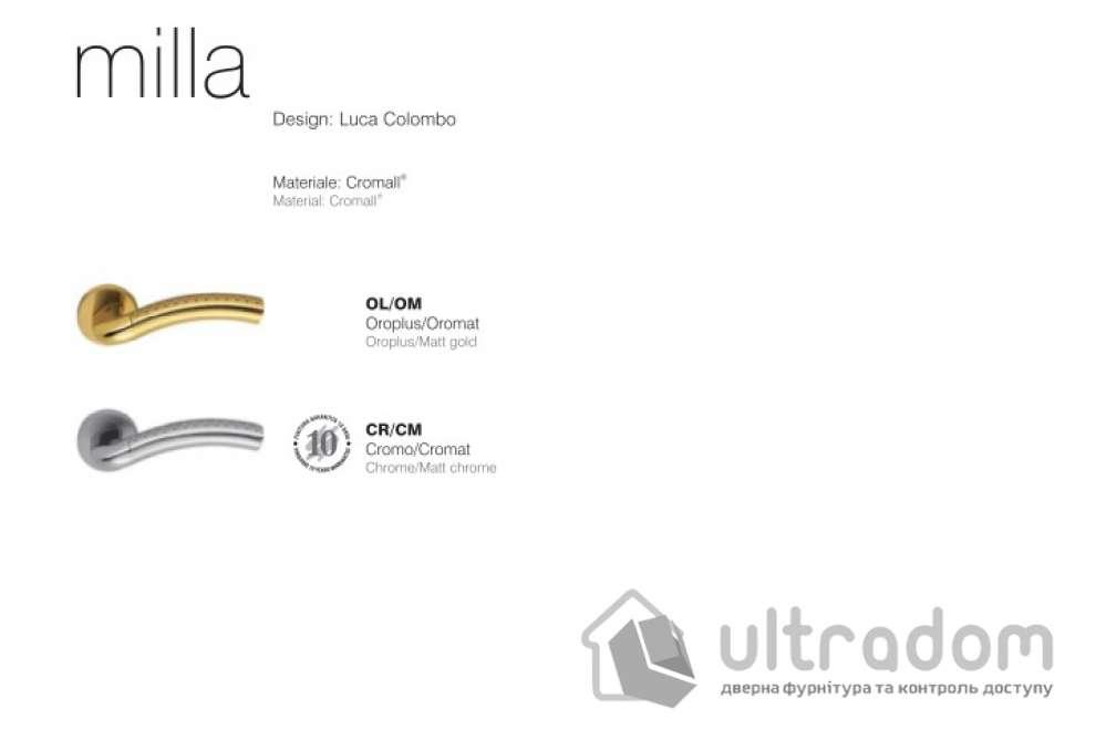 Дверная ручка COLOMBO Milla LC 41 пол.латунь-мат.золото