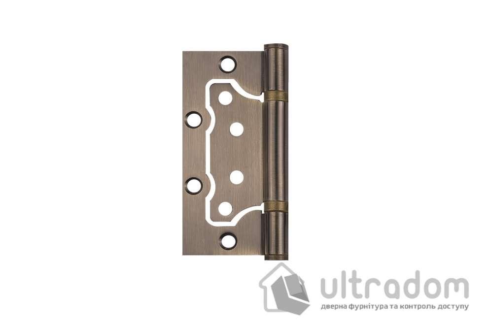 Петля дверная накладная SIBA 100 мм, античная бронза AB