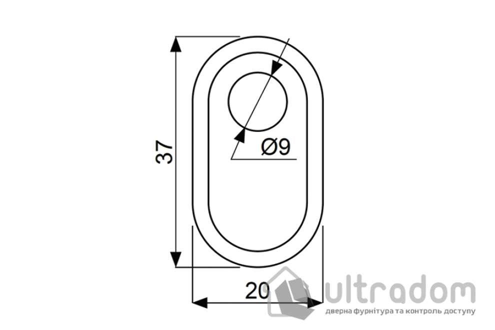 Декоративная накладка для цилиндра DISEC A2427 DIN OVAL
