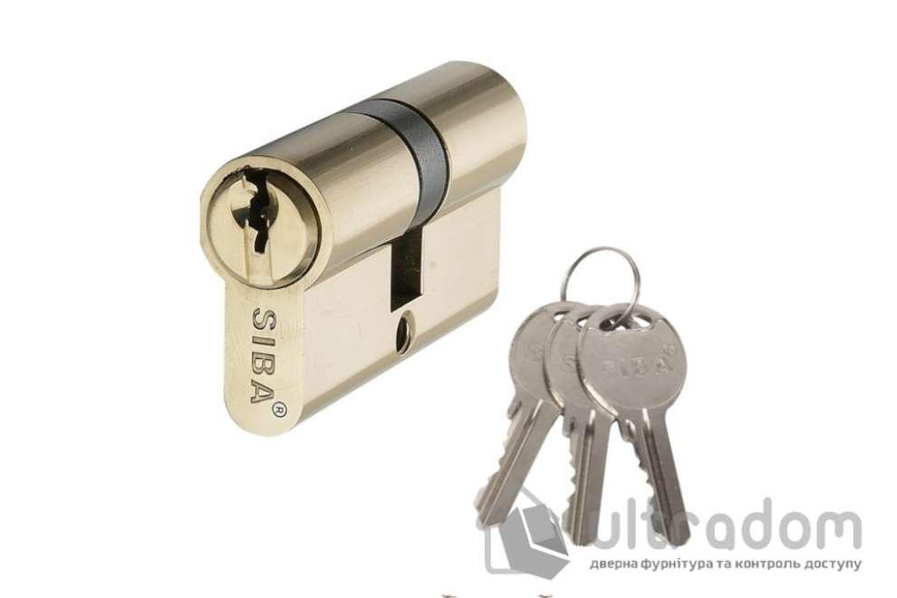 Цилиндр дверной SIBA английский ключ-ключ 90 мм