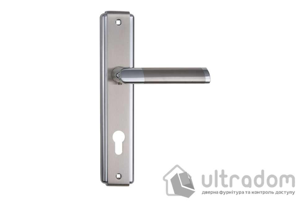 Дверная ручка на планке под ключ (85 мм) SIBA Triesta мат.никель-хром