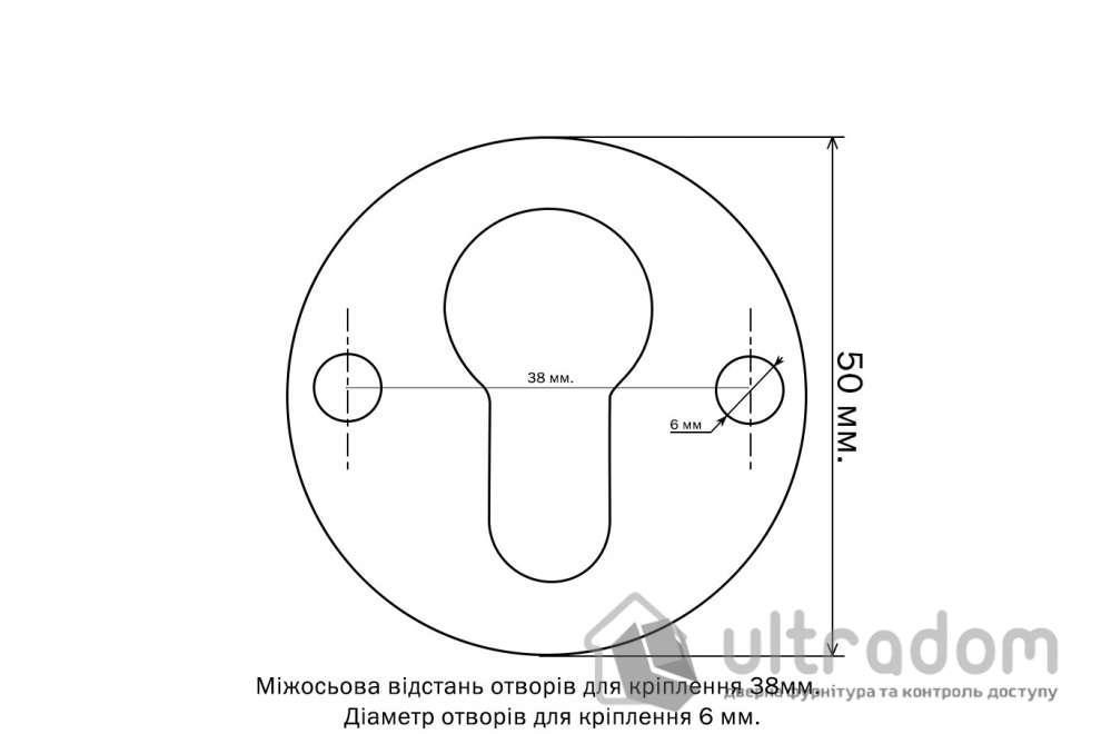 Спейсер MUL-T-LOCK ROUND внешний для протектора 2.5 мм