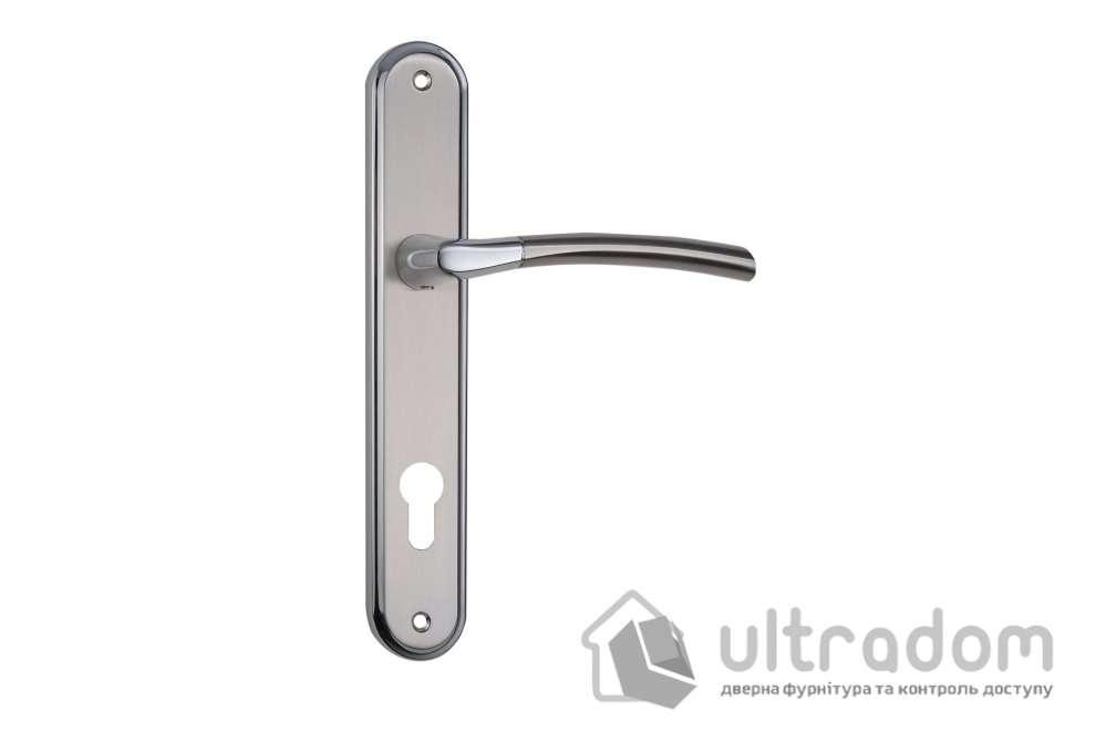 Дверная ручка на планке под ключ (85 мм) SIBA Lucca мат.никель-хром
