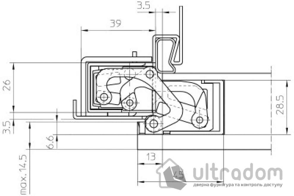 Петля скрытая Simonswerk TE 380 3D