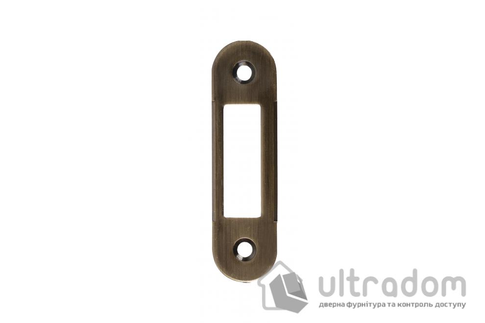 Ответная планка для замка SIBA SP5 AB без отбойника, цвет - античная бронза