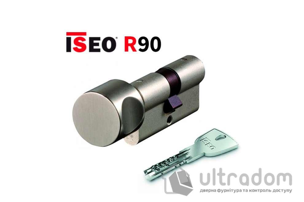 Цилиндр дверной ISEO R90 кл-вороток, матовый хром 60 мм