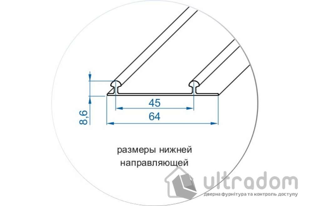Соединительный H-образный профиль для Valcomp ARES 3