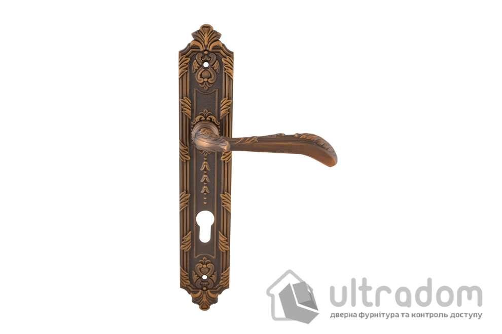Дверная ручка на планке под ключ (85мм) SIBA Karina, матовое кофе