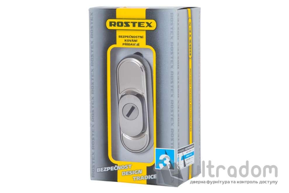 Броненакладка ROSTEX Decor R3 DIN PLATE 22 мм, хром матовый