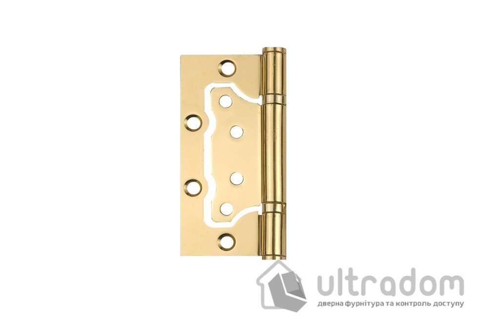 Петля дверная накладная SIBA 100 мм, полированная латунь BP