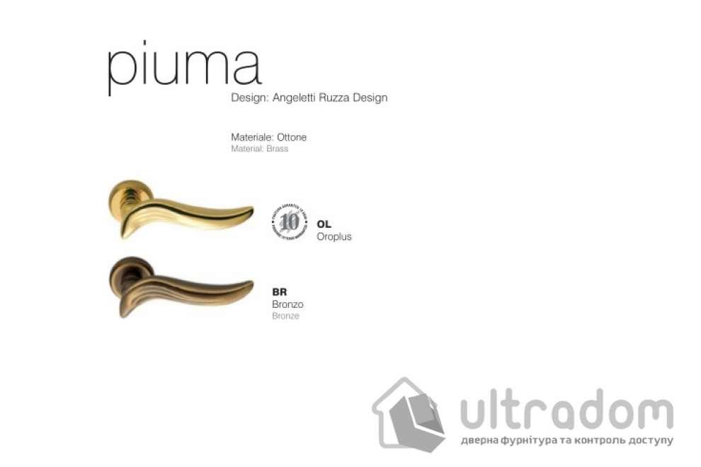 Дверная ручка Colombo Piuma AR 11  полированная лататунь
