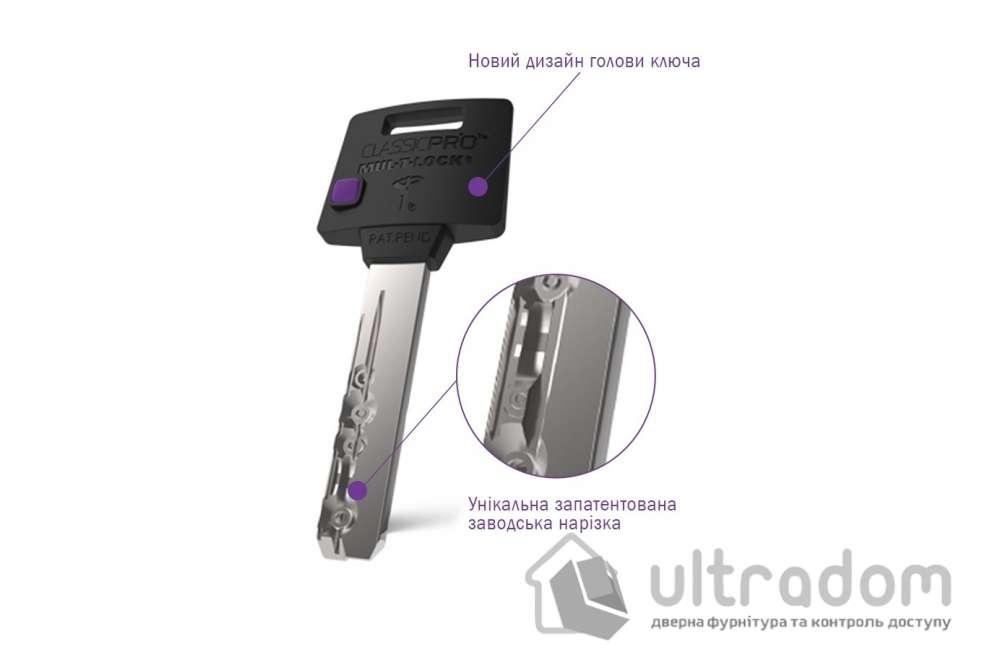 Цилиндр дверной Mul-T-Lock Classic Pro кл-вороток., 82 мм