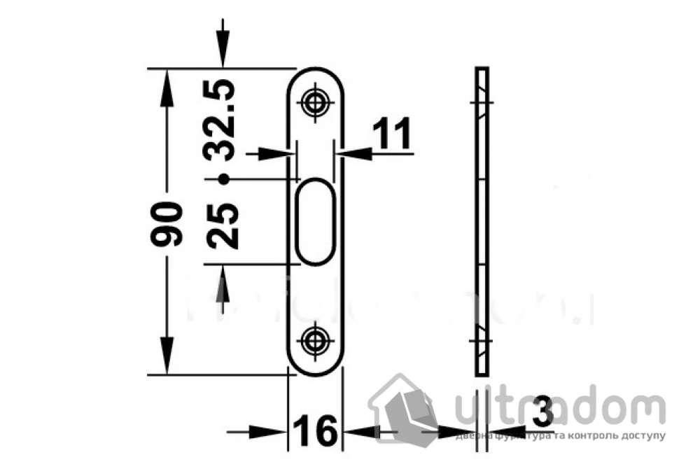 Ручка-ракушка с механизмом WC для раздвижных дверей Hafele латунь полированная