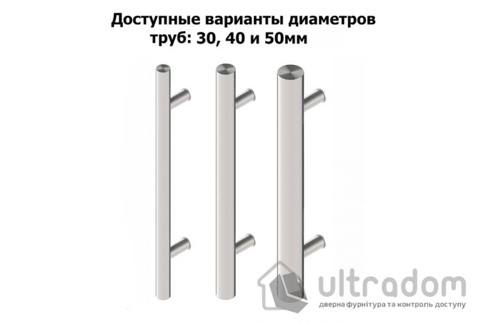 Дверная ручка-скоба Wala P10 нержавеющая сталь Ø40 мм односторонняя