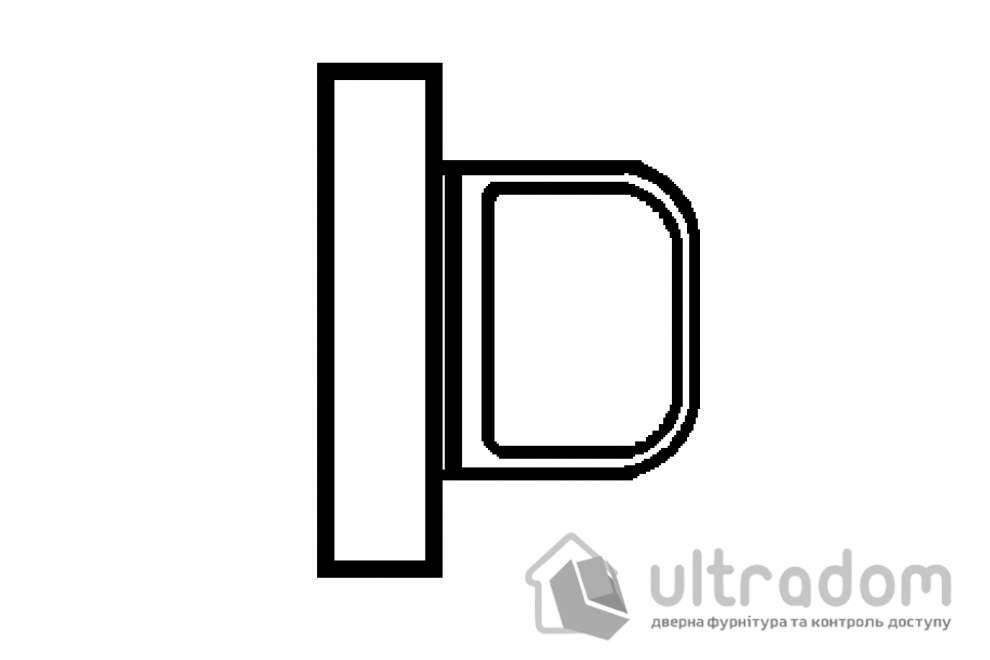 TUPAI вороток сантехнический WC прямоугольный мод.3045 RT