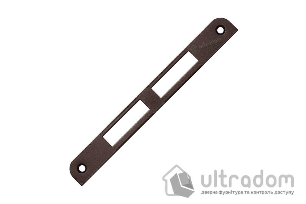 Ответная планка для замка AGB CENTRO PZ без отбойника, цвет - коричневая бронза