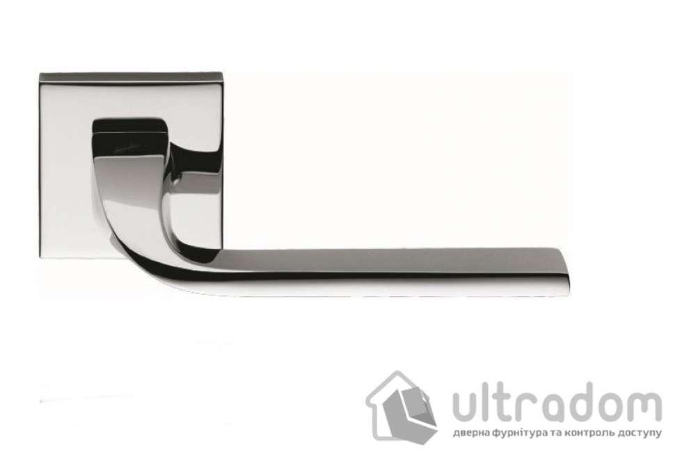 Дверная ручка COLOMBO ISY BL 11  хром (роз. 6мм)