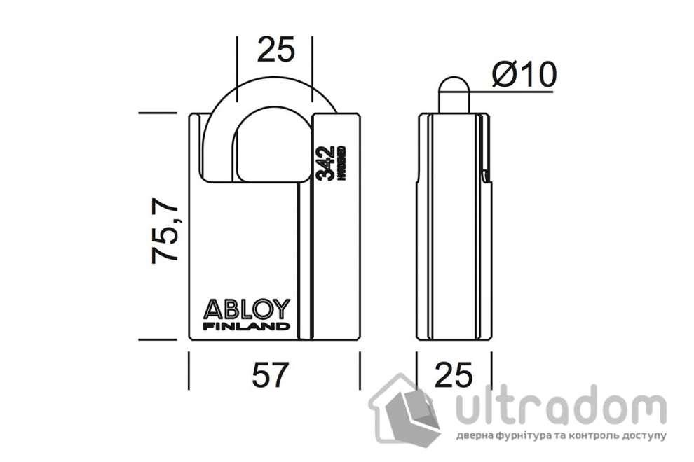 Навесной  замок ABLOY PL342 Protec / Protec2