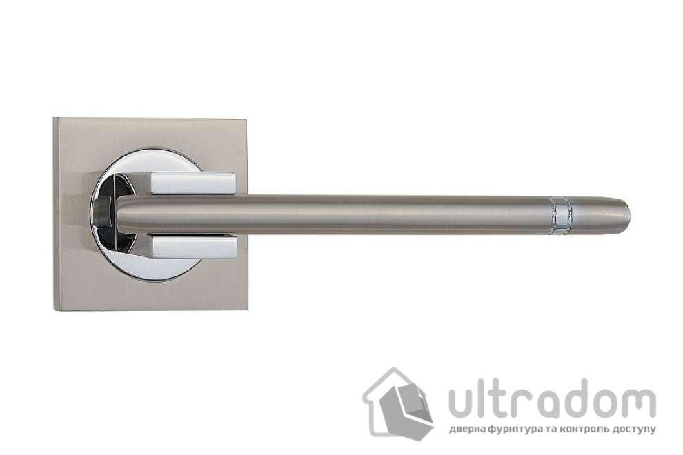 Ручка дверная на розетке SIBA Kristal, мат.никель-хром