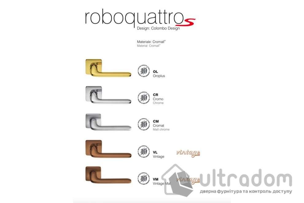 Дверная ручка COLOMBO RoboquattroS ID 51 матовый хром