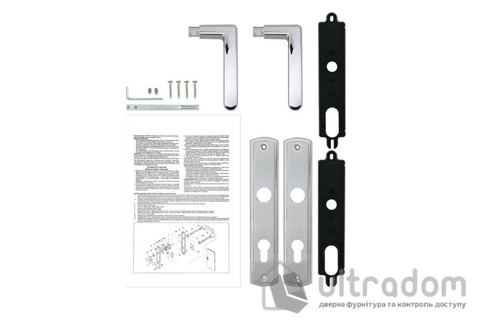 Дверная ручка ROSTEX KREDO  PZ ручка-ручка 72 мм хром матовый