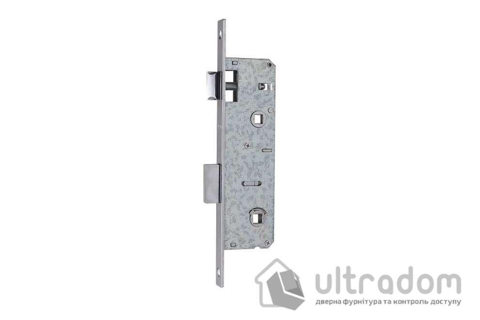 Корпус замка сантехнического с защелкой SIBA 10069PWC-35 для металлопластиковой двери.