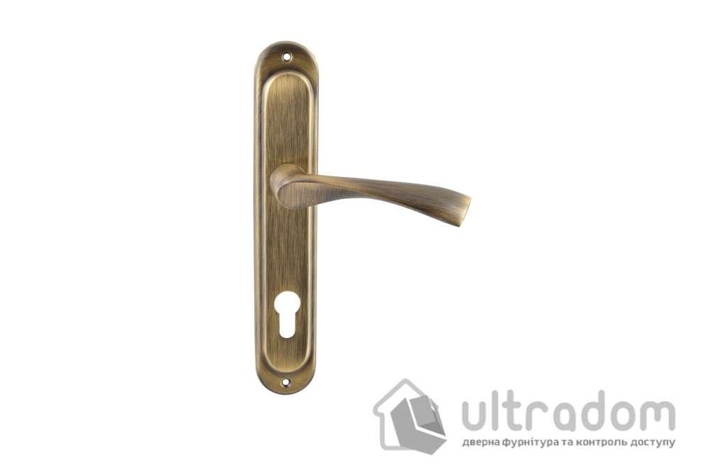 Ручка дверная на планке Doganlar NEON, античная бронза