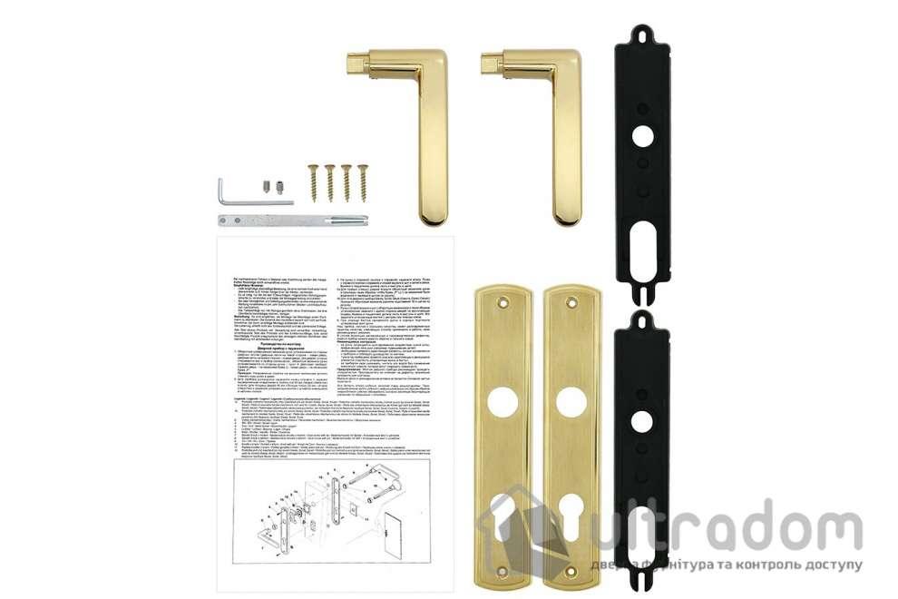 Дверная ручка ROSTEX KREDO  PZ ручка-ручка 72 мм латунь матовая