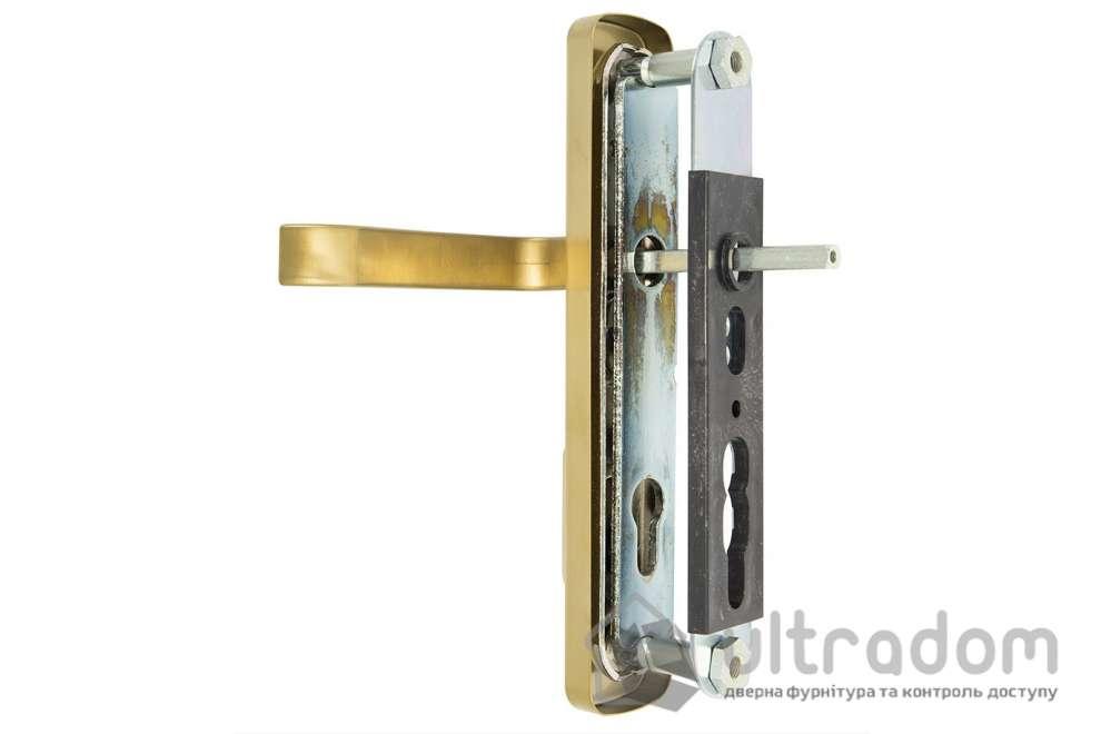 Фурнитура защитная ROSTEX R1 Astra 3 класс  латунь матовый с фикс. ручкой 72-85-90
