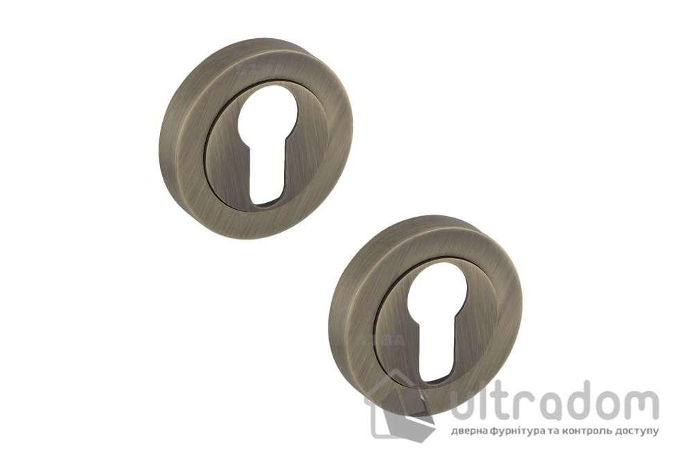 Накладки под цилиндр PZ R04 матовая бронза 70 70