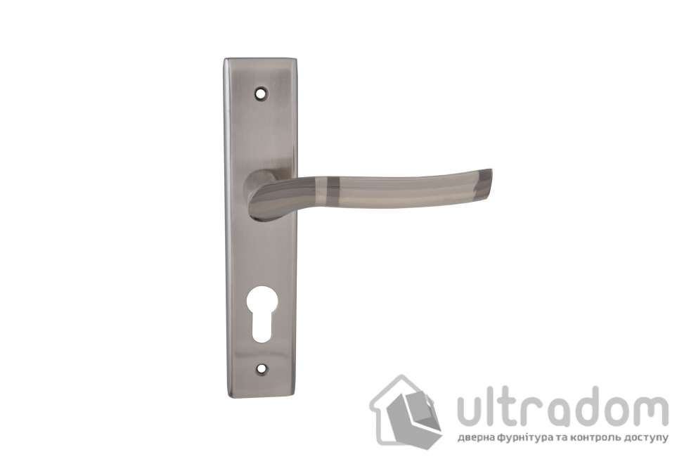 Дверная ручка на планке под ключ (85-62 мм) SIBA Verona мат.никель-графит
