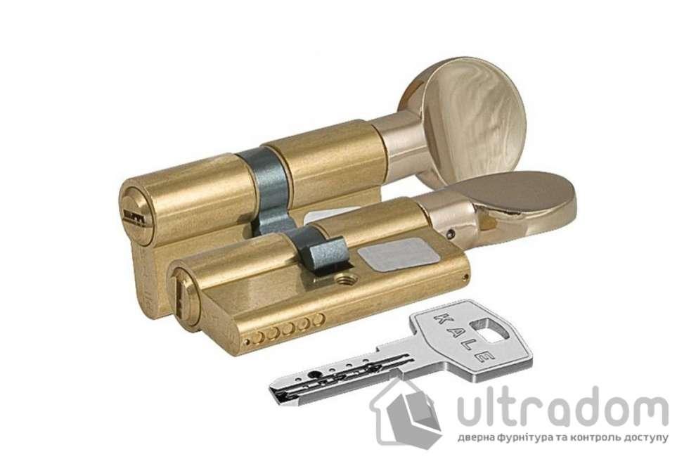 Цилиндр дверной KALE 164  BM ключ-вороток 80 мм