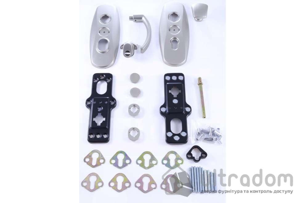Фурнитура защитная  MUL-T-LOCK Platinum 3 класс 90 мм никель матовый fix-mov