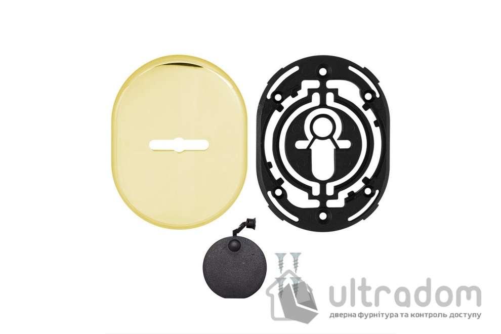 Декоративная накладка для сувальдного замка со шторкой  DISEC KT090 MATRIX OVAL