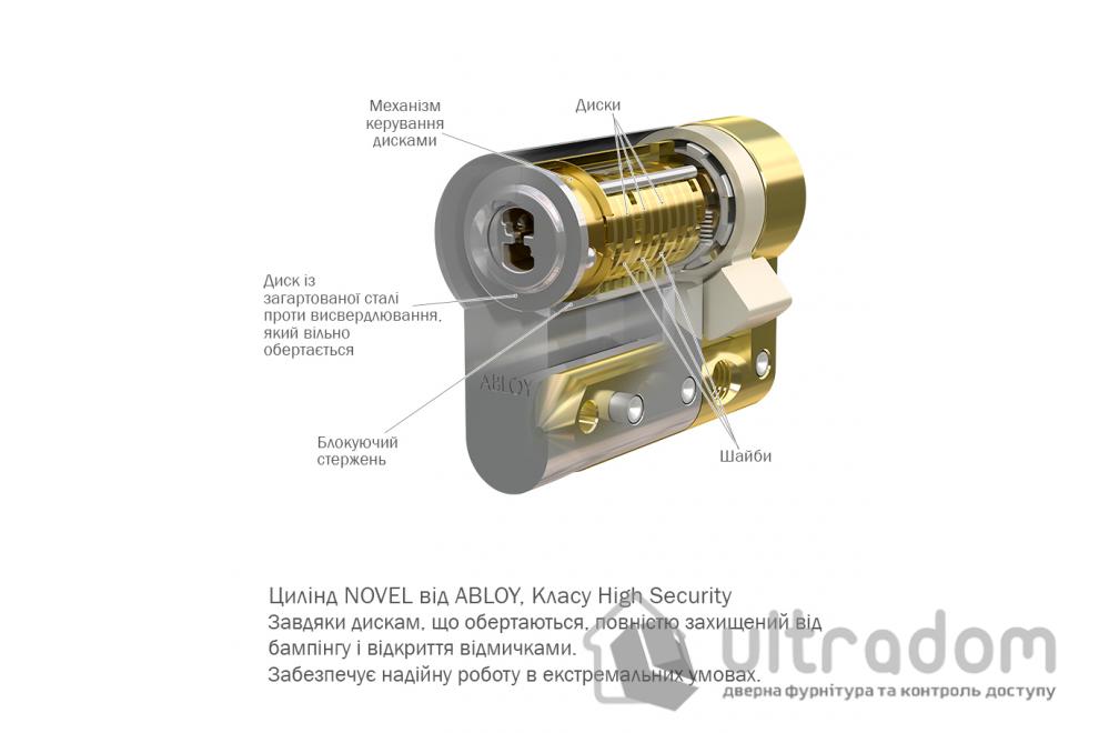 Дверной цилиндр ABLOY Novel ключ-вороток, 129 мм