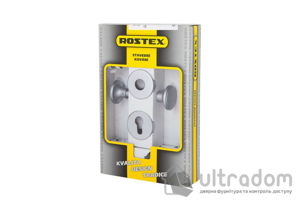 Ручка-кноб ROSTEX EXСLUSIVE SNH55 fix-mov с накладкой PZ хром сатин