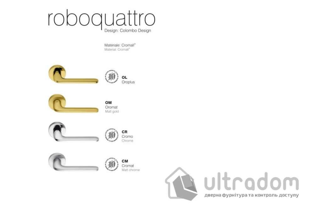 Дверная ручка COLOMBO Roboquattro ID 41  матовое золото