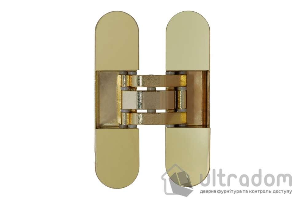 Скрытая дверная петля OTLAV Invisacta 3D 30х120 мм  полированное золото