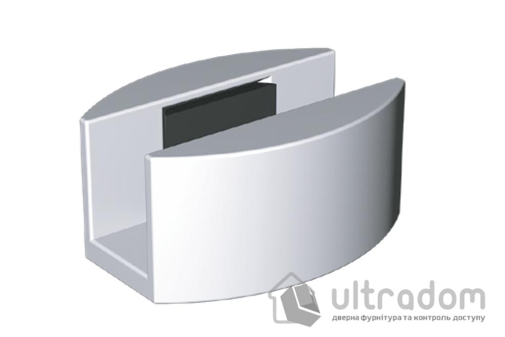 Алюминиевый нижний проводник для систем  Valcomp GLASS 8-12 мм,  цвет- серебро
