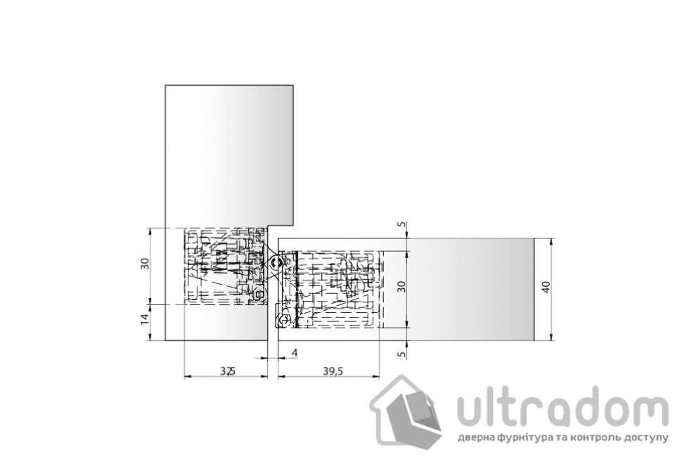 Петля скрытая Anselmi Istar AN 141 3D FVZ 14/40 14