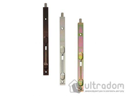 Дверной торцевой шпингалет AGB 250 мм, УСИЛЕННЫЙ