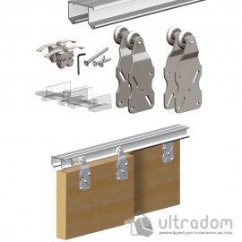 Комплект подвесной раздвижной системы Valcomp HORUS HR18 для шкафа-купе до 1800 мм,  2 створки до 45 кг (212-013)