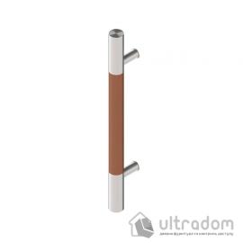 Дверная ручка-скоба Wala P10D Ø40 мм нерж. сталь с деревянной вставкой односторонняя