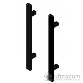 Дверная ручка-скоба PROFIT BERGAMA 40*20 - 90° матовая чёрная