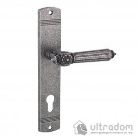 Дверная ручка на планке под ключ (85 мм) SIBA RIMINI мат. античное серебро
