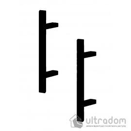 Дверная ручка-скоба PROFIT BERGAMA 40*20 - 45° матовая чёрная