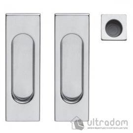 Ручки - ракушки для раздвижных дверей DND by Martinelli Pettangolare матовый хром