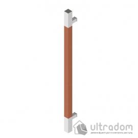 Дверная ручка-скоба Wala Q10D 40х40 мм нерж. сталь с деревянной вставкой односторонняя